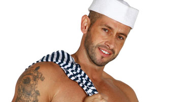 Sailor with hat and striped shirt