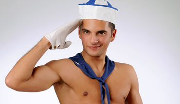 Young man in sailor's outfit